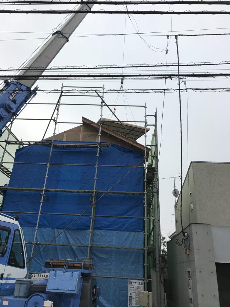 屋根パネル クレーン